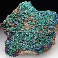 Malachite Azurite & Quartz