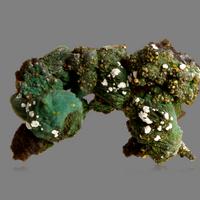 Wulfenite On Chrysocolla Psm Malachite Psm Azurite