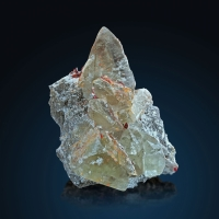 Calcite With Realgar & Picropharmacolite